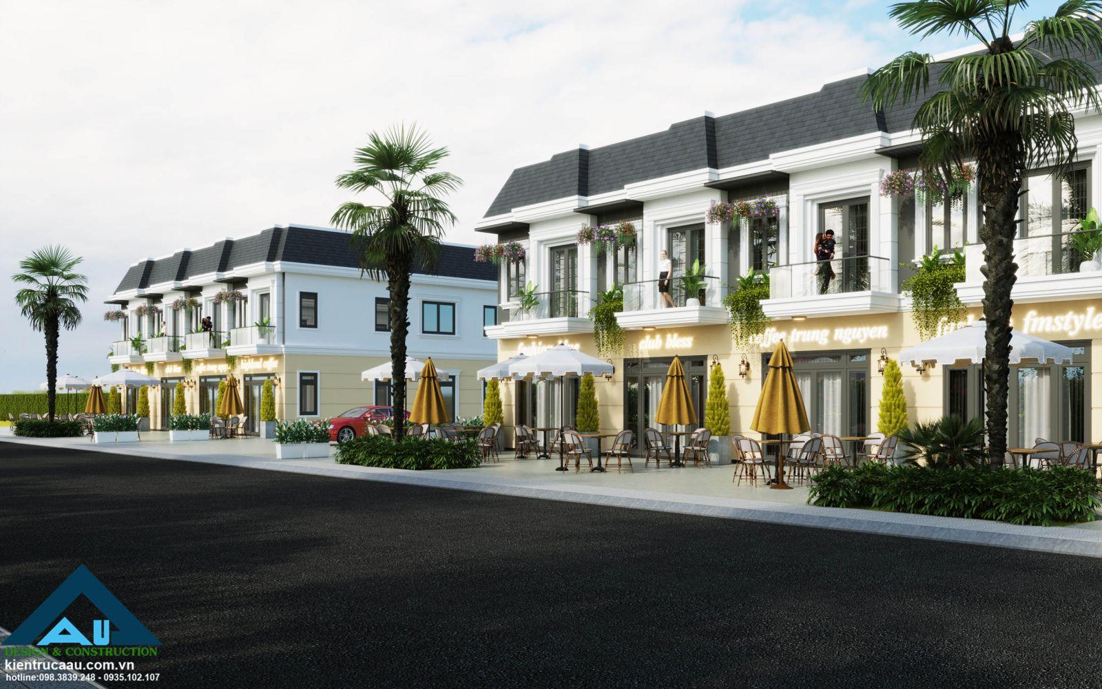 Thiết kế Shophouse - Nhà phố thương mại / Kiến trúc Á Âu