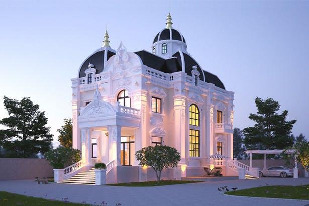 Thiết kế kiến trúc biệt thự kiểu Pháp và những điều cần tham khảo