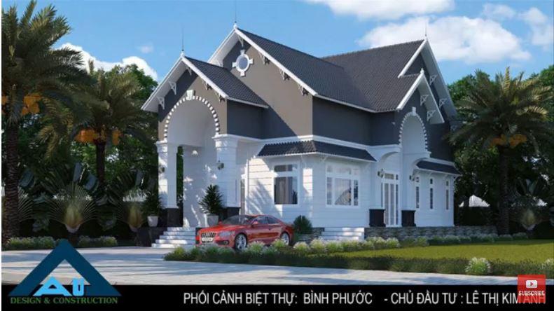 Thiết kế thi công biệt thự đẹp cho gia chủ tại Đồng Xoài - Bình Phước