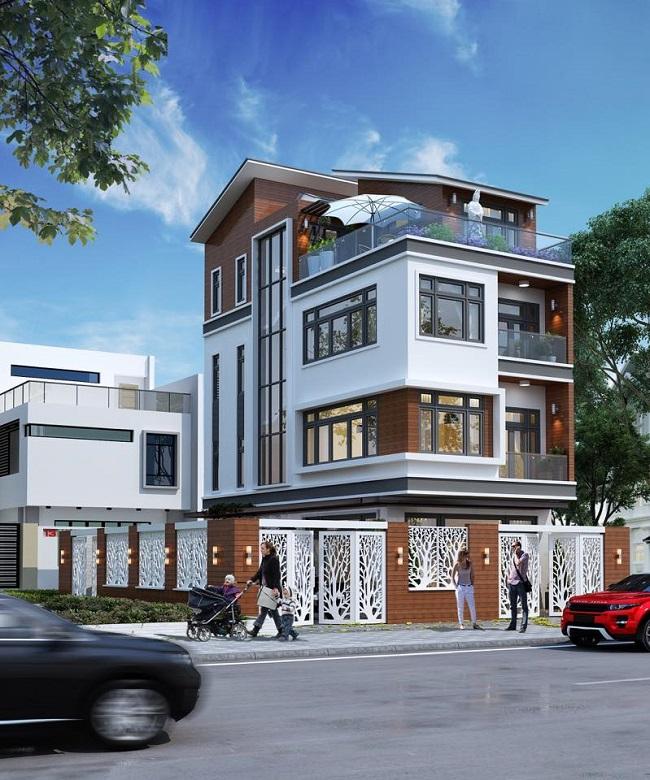 Thiết kế biệt thự phố sang trọng hiện đại tại Đà Nẵng