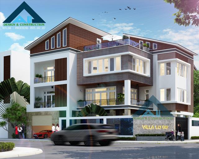 Thiết kế thi công biệt thự tại Đà Nẵng - Kiến trúc Á Âu - Chất lượng dẫn đầu