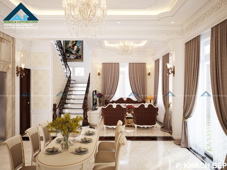 Sang trọng tinh tế trong thiết kế nội thất biệt thự tại Đà Nẵng