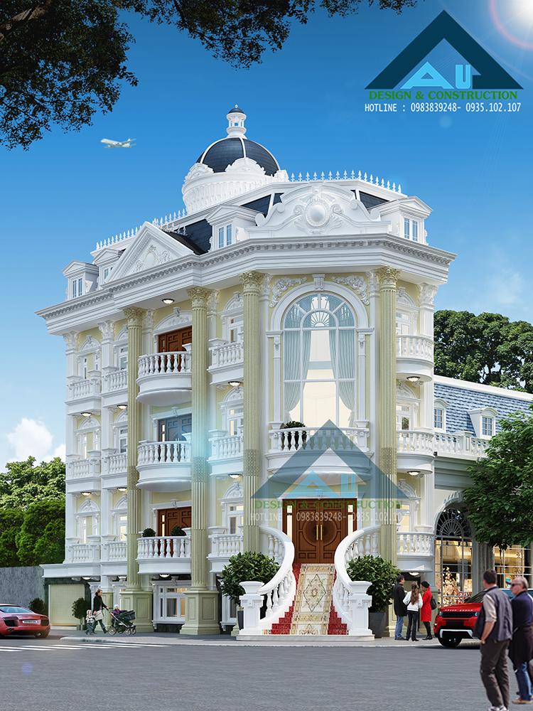 Thiết kế biệt thự tân cổ điển tại Đà Nẵng đẳng cấp, ấn tượng