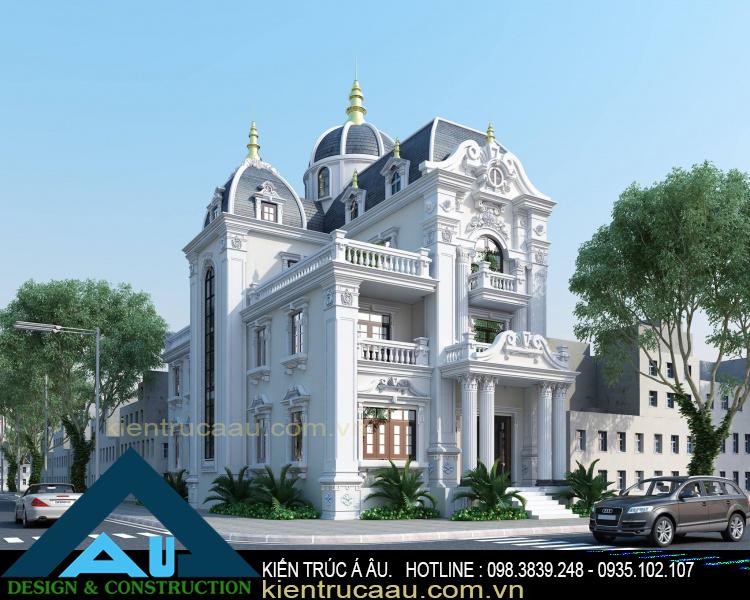 Thiết kế biệt thự kiểu Pháp đẹp phong cách ấn tượng
