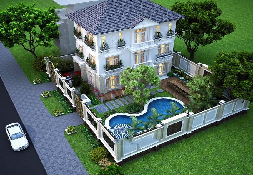 Đặc điểm kiến trúc biệt thự sân vườn và những lưu ý khi thiết kế