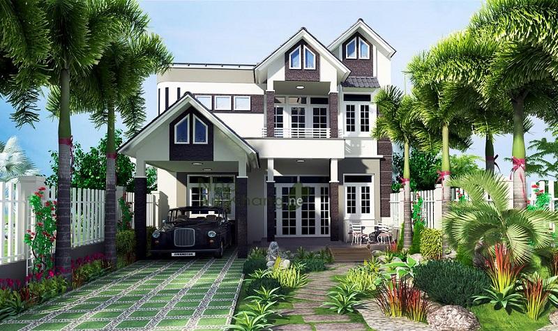 Thiết kế biệt thự vườn tại Đà Nẵng đẳng cấp ấn tượng
