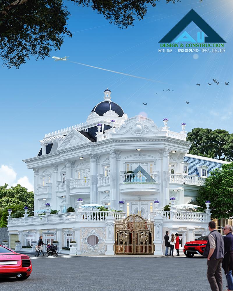 Kiến trúc Á Âu thiết kế biệt thự tân cổ điển uy tín chất lượng