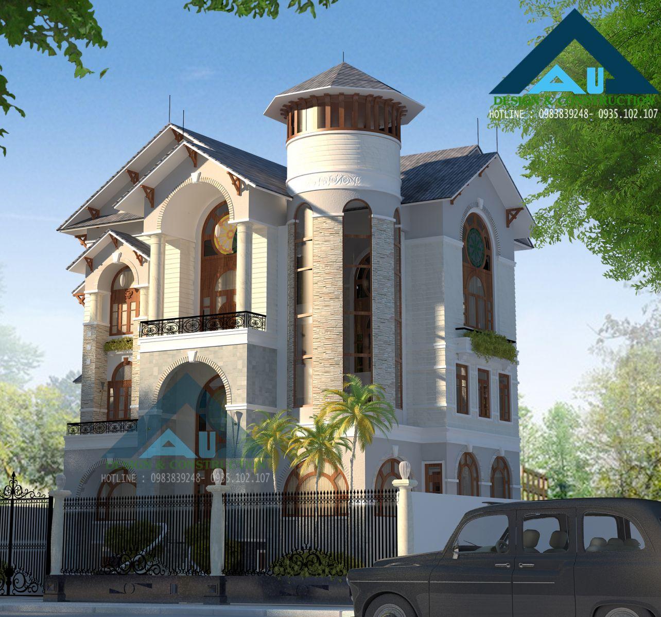 Cách chọn màu sơn cho biệt thự mang phong cách cổ điển