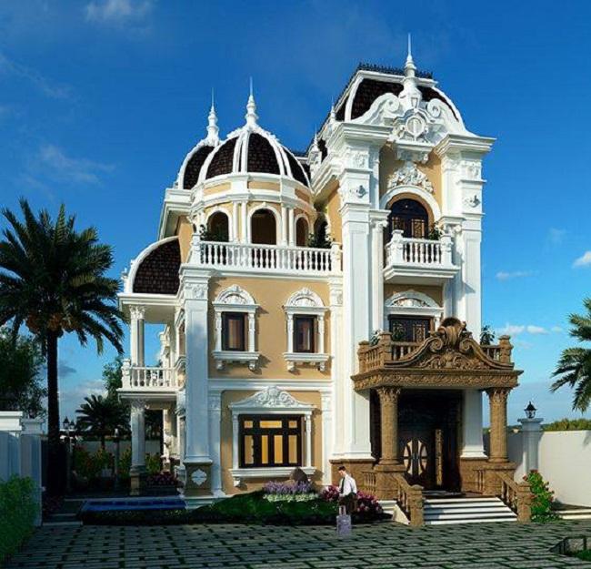 Công trình biệt thự cổ điển và biệt phủ đẹp