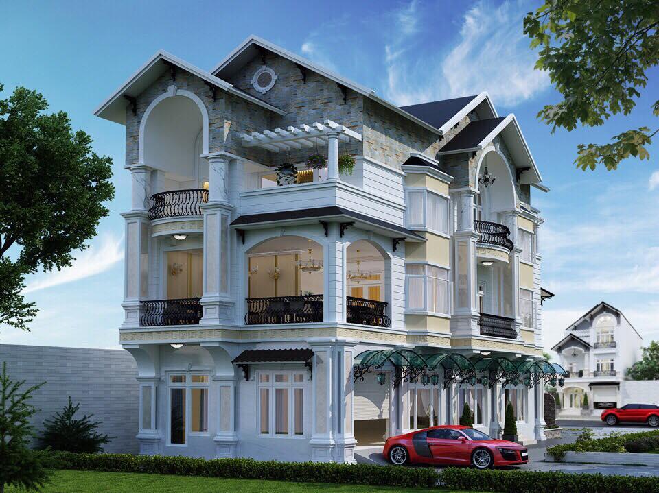 Thiết kế biệt thự phố phong cách tân cổ điển