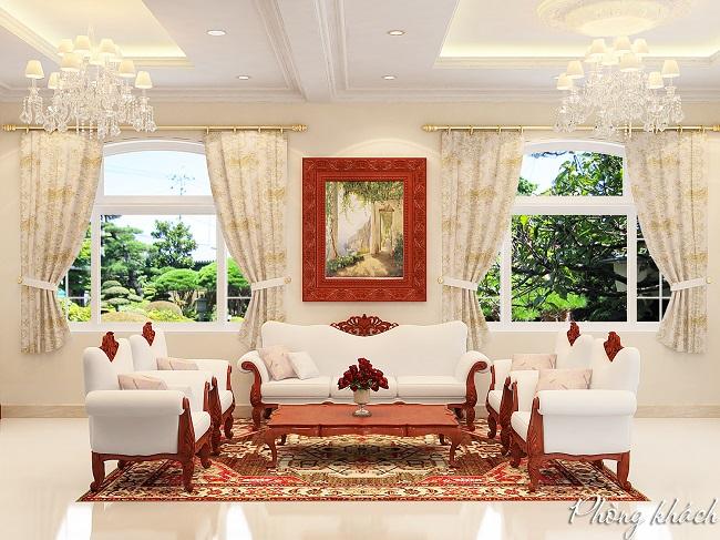 Không gian phòng khách sang trọng và hiện đại - Kiến trúc Á Âu