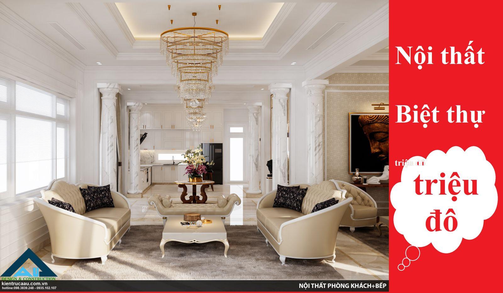 Khám phá nội thất biệt thự triệu đô trong không gian biệt thự tân cổ điển