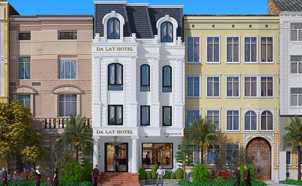 Thiết kế kiến trúc khách sạn thu hút khách du lich