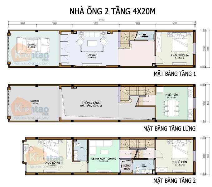 4 Mẫu bản vẽ nhà 2 tầng hiện đại chuẩn không cần chỉnh