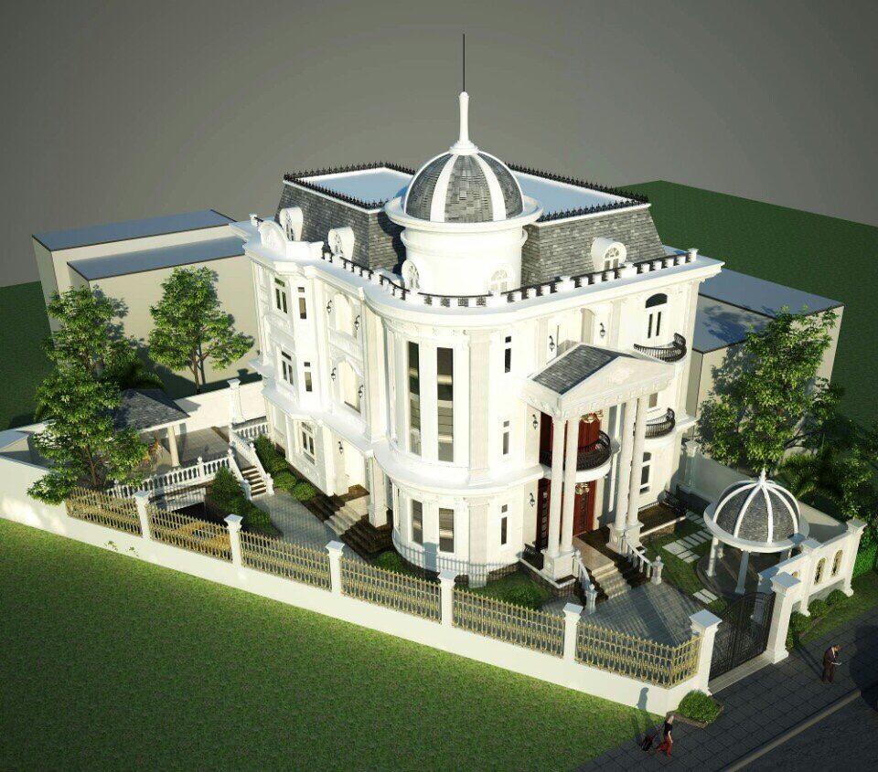 Thiết kế biệt thự kiểu Pháp tinh tế sang trọng thịnh hành theo thời gian