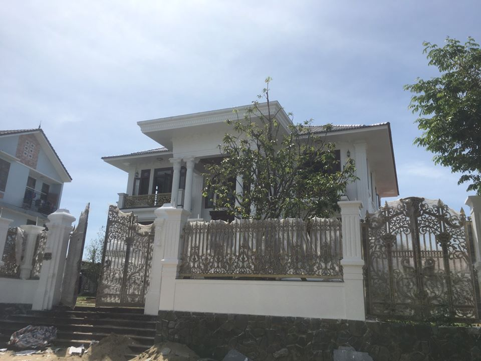 Thi công mẫu biệt thự 2 tầng tại Đà Nẵng - Kiến trúc Á Âu