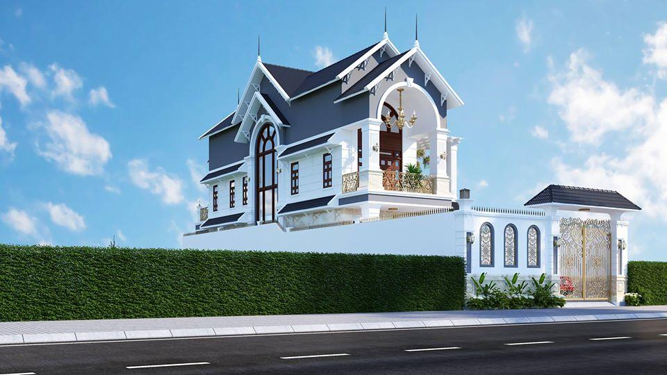 Thiết kế thi công mẫu biệt thự tân cổ điển 2 tầng cho gia chủ tại Bình Dương/ Kiến trúc Á Âu
