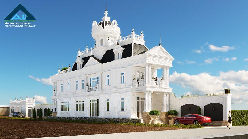 Biệt thự cổ điển 2 tầng - nét đẳng cấp và sang trọng