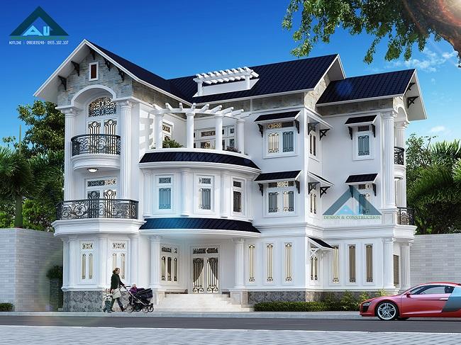 Thiết kế biệt thự 3 tầng hiện đại đẹp