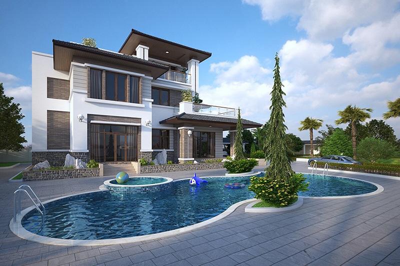 thiết kế biệt thự vườn 2 tầng tại Đà Nẵng