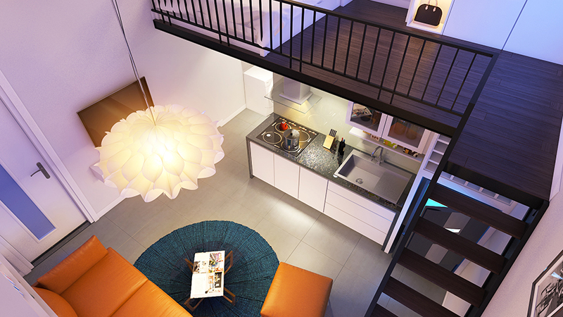 Thiết kế căn hộ mini cho thuê tại Đà Nẵng kiến trúc ấn tượng tiện nghi