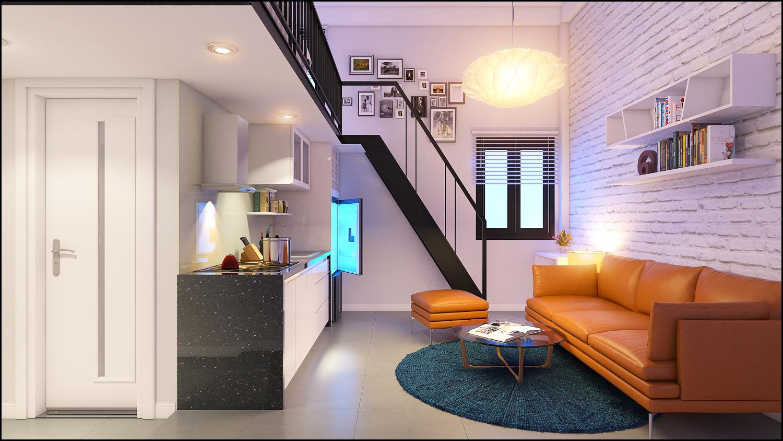 thiết kế căn hộ mini cho thuê tại Đà Nẵng