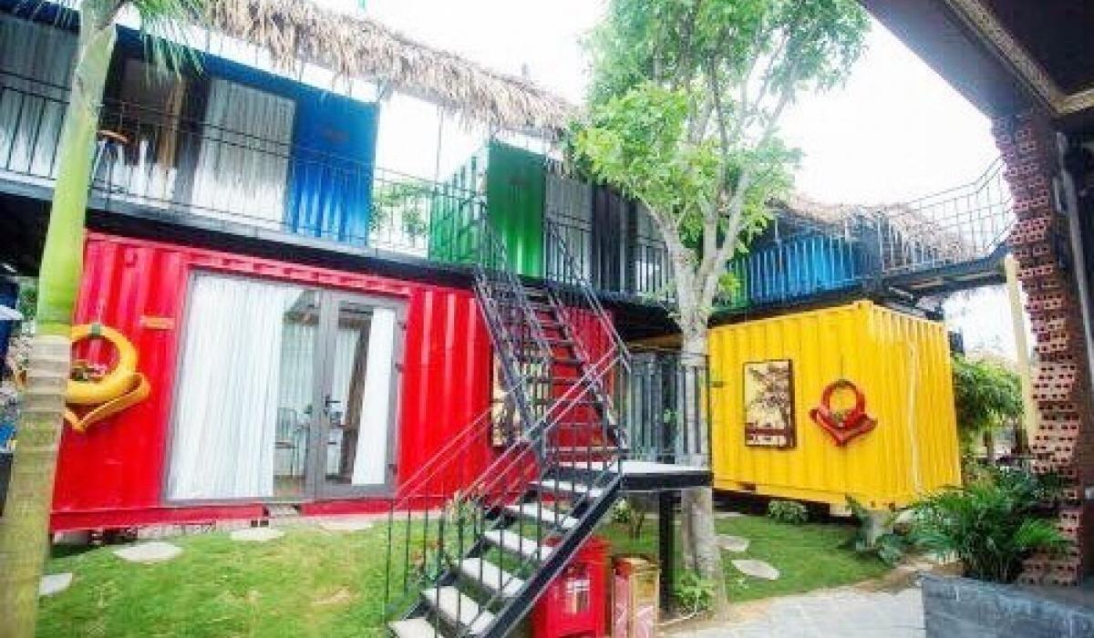 Thiết kế căn hộ homestay sử dụng vật liệu container