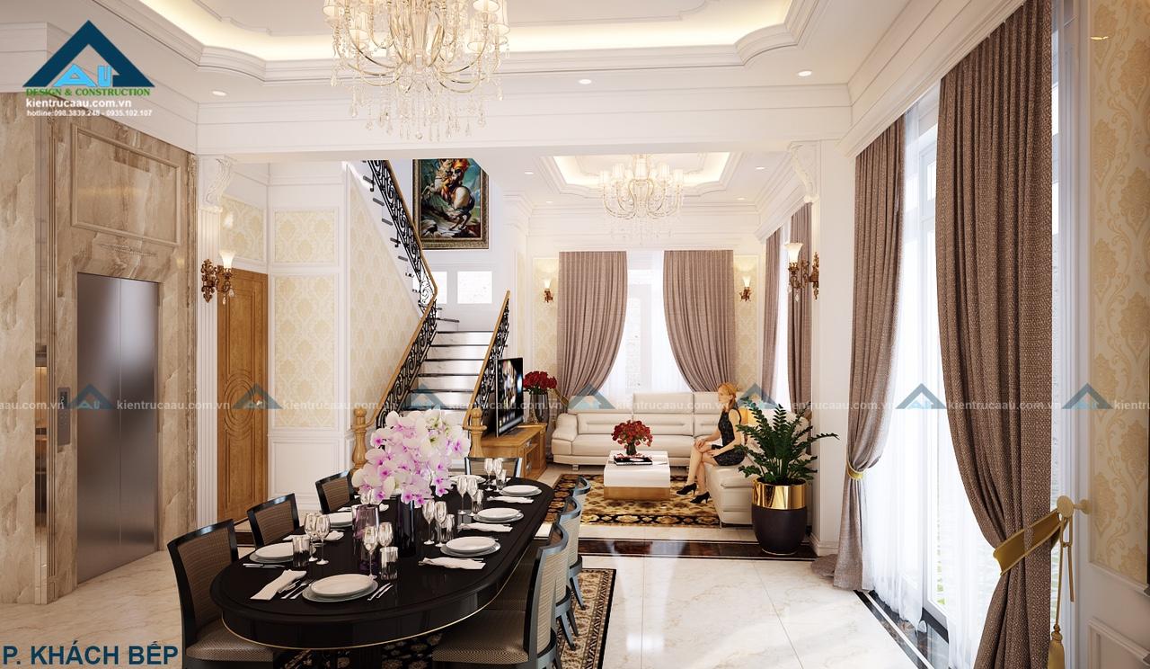 Thiết kế nội thất biệt thự hiện đại sang trọng không gian ấn tượng cuốn hút