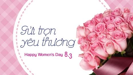 Thư chúc mừng ngày 8/3 - Quốc tế phụ nữ / Kiến trúc Á Âu