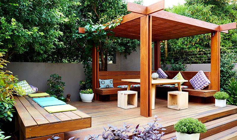 Thiết kế sân vườn đẹp cho nhà phố/ Kiến trúc Á Âu